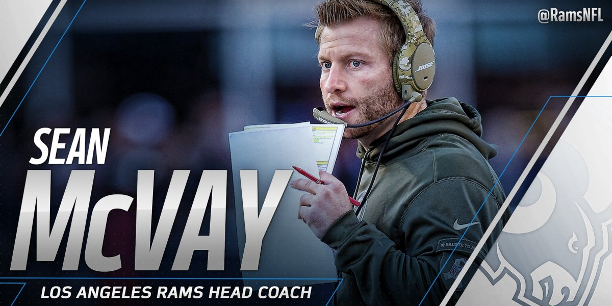 Sean McVay ny head coach for L.A. Rams!