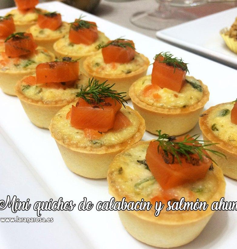 Mini quiches de calabacín y salmón ahumado
