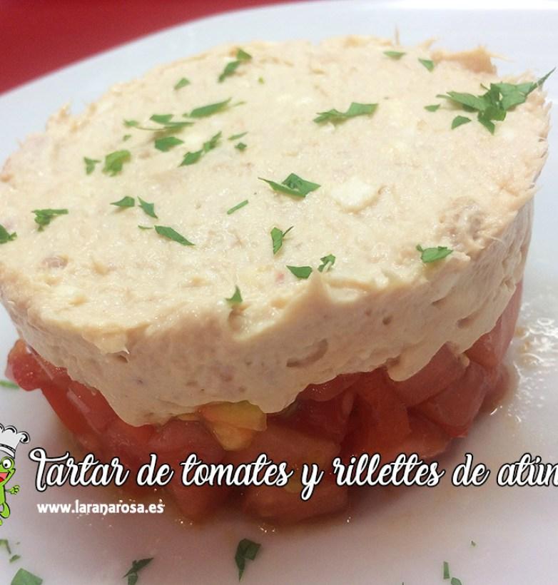 Tartar de tomates y rillettes de atún