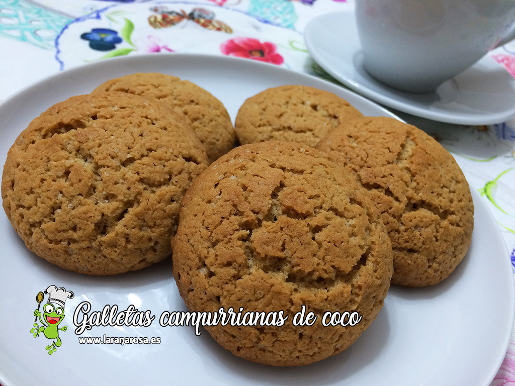 Galletas campurrianas de coco