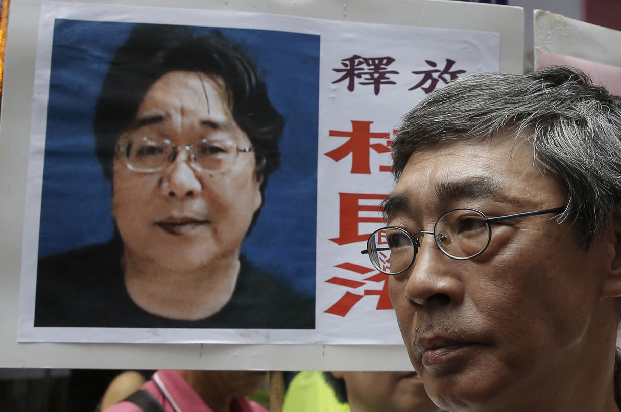 "Sentenced to ten years in jail a Hong Kong bookseller for ""providing intelligence abroad"""