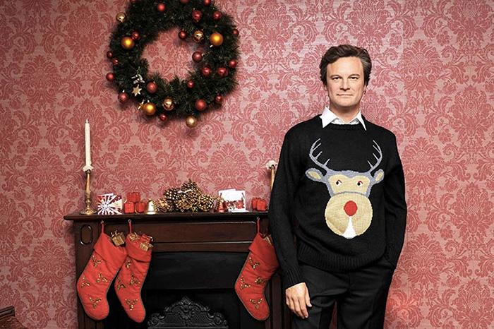 pull kitsch de Noël colin firth