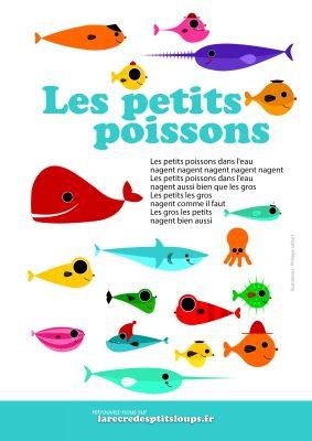 les petits poissons dans l'eau paroles à imprimer gratuitement