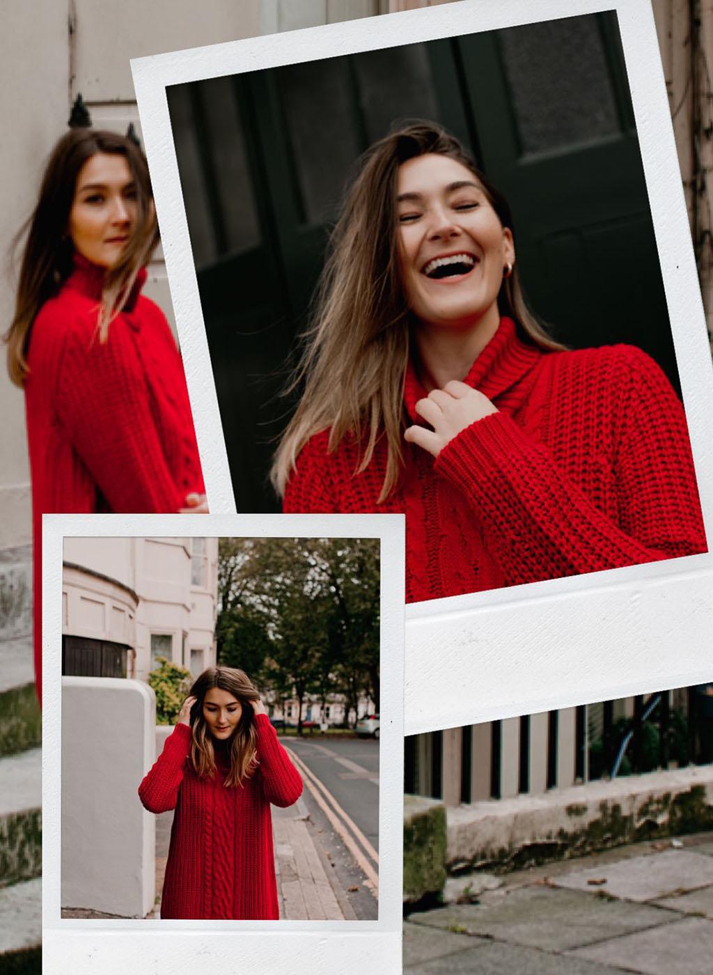 Matalan red jumper knitwear lareese craig fashion blogger