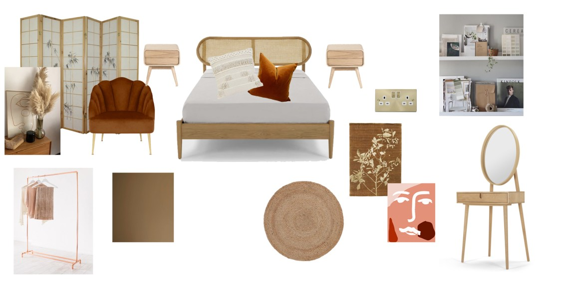 bedroom mood board, bedroom makeover, renovation,