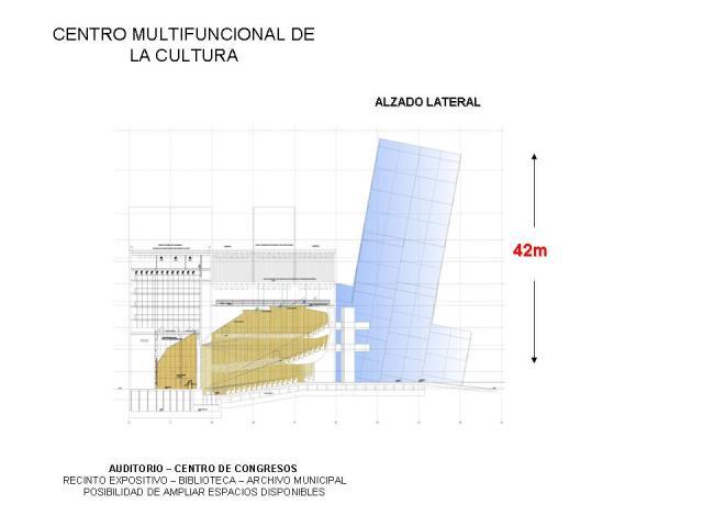 Proyecto Auditorio de Caravaca de la Cruz :: Alzado Lateral::
