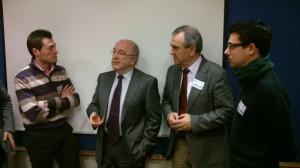 Rocamora en Bruselas acompañado de Rafael Gonzalez Tovar