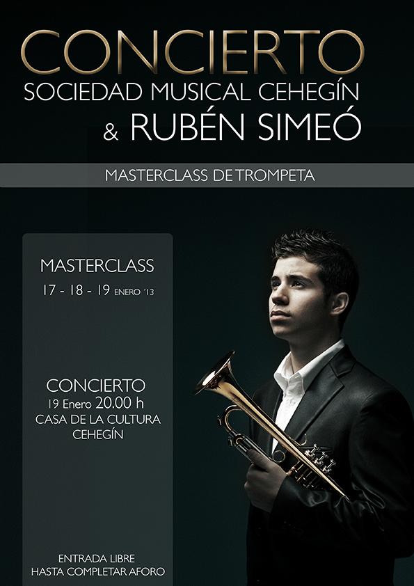 Rubén Simeó actuará con la Sociedad Musical de Cehegín