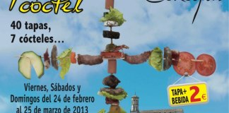 """Cartel de la """"V Ruta De La Tapa Y Del Cóctel"""" en Cehegín"""