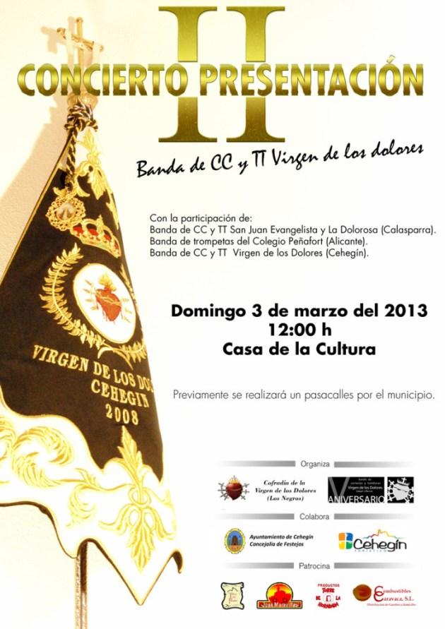 II Concierto Presentación Banda de CC y TT Virgen de los Dolores de Cehegin