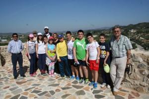 Alumnos del IES Alquipir visitan el yacimiento de Begastri