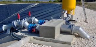 La imagen muestra una infraestructura para la modernización de regadíos.