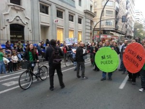 Manifestantes plataformo PAH de Murcia