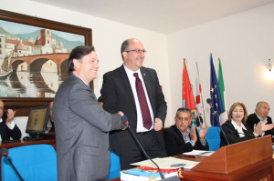 Alcaldes de Bullas y Bosa-Acto de hermanamiento
