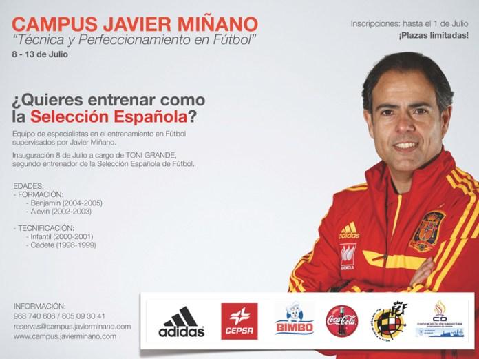Cartel Campus de Fútbol Javier Miñano