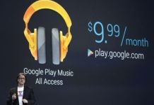Chris Yerga, director de Ingeniería de Android introduce Google Play Music. / JOHN G. MABANGLO (EFE)