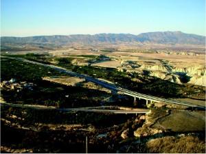 Vista carretera de la Cuenca de Mula