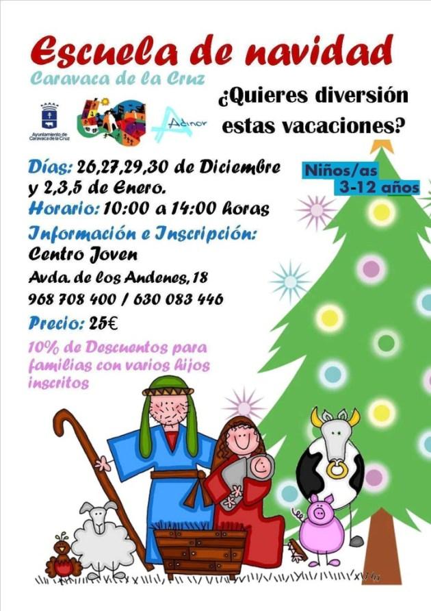 Cartel Escuela de Navidad Caravca 2014