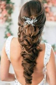novia, boda, peinado