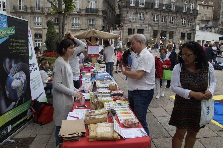 El último mercadillo de comercio justo celebrado en Vigo hace unos días.