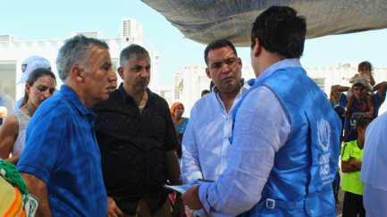 Alcalde y Embajador de EEUU visitaron puntos de asistencia a migrantes y retornados en Maicao