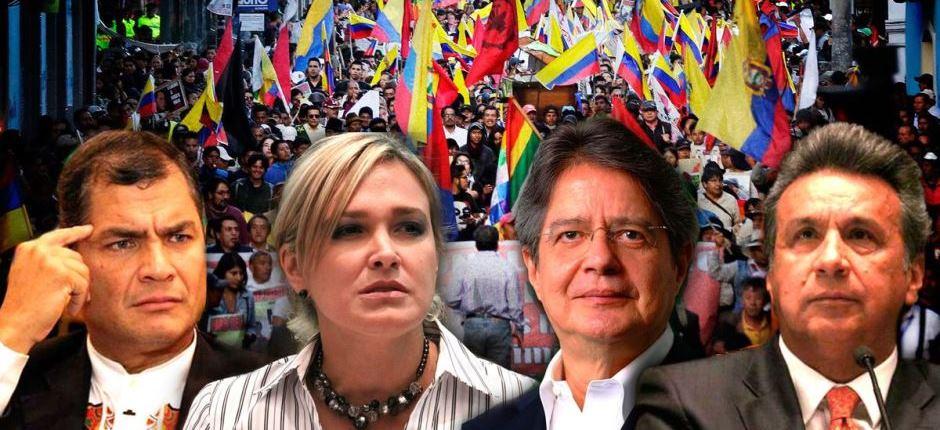 Resultado de imagen de campaña electoral en ecuador