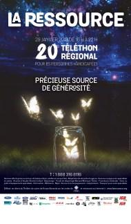 Affiche 20e téléthon de la Ressource