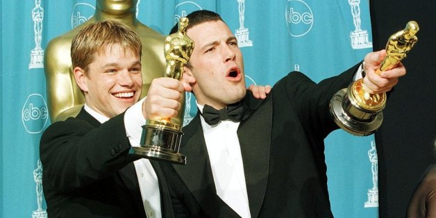matt-damon-ben-affleck-first-trip-oscars-eventful-one-won-award-best-original-screenplay-1998-oscars-good-hunting
