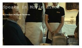 LAMB #1858 – Speaks in Movie Lines