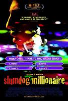 The movie poster for 'Slumdog Millionaire'