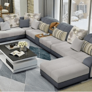 Adore Series (Spacious) 9 Seater Sectional Sofa   Coffee Table