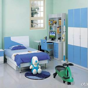 Glorious Kids 002 Bedroom Set – Bedframe, 3 Door Wardrobe and Kids Study
