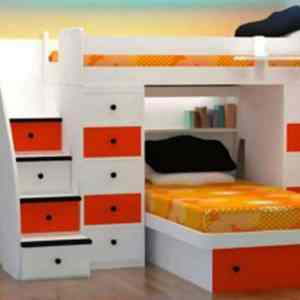 Glorious Kids Room Set 012 – 3 in 1 Bed Frame (Triple Layer)