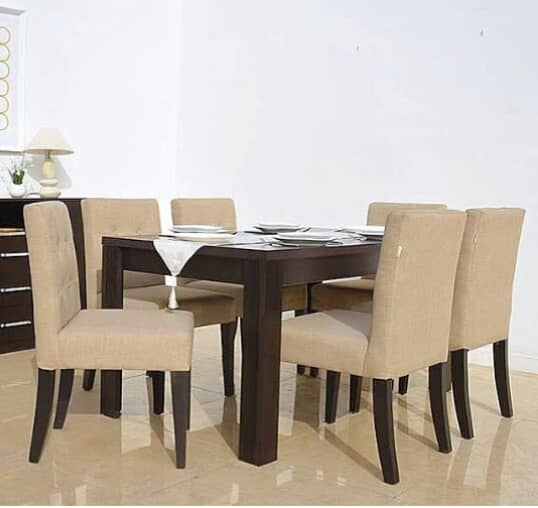 Amoke's Series 6 Seater Upholstered Dining