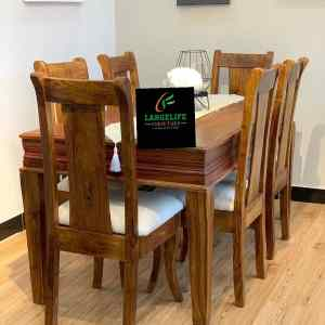 EasyLife Series – 6 Seater Mahogany Dining Set