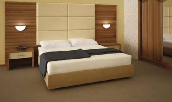 GOLD CRUST SERIES LUXURY (6FT BY 6FT) BEDFRAME WITH LIGHTS AND 2 BEDSIDES