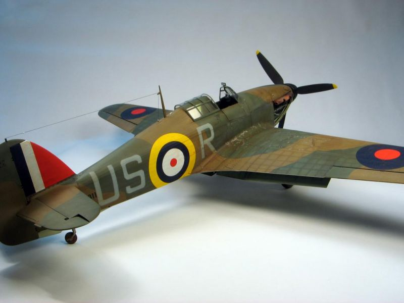 Trumpeter 124 Hurricane Large Scale Planes