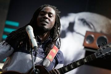 Daniel Bambaata Marley  keeps the crowd entertained.