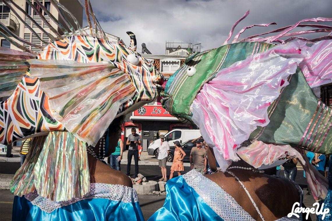 Kissing Fish at the Foyal Parade, Centre Ville, Fort-de-France photo by Adama Delphine Fawundu