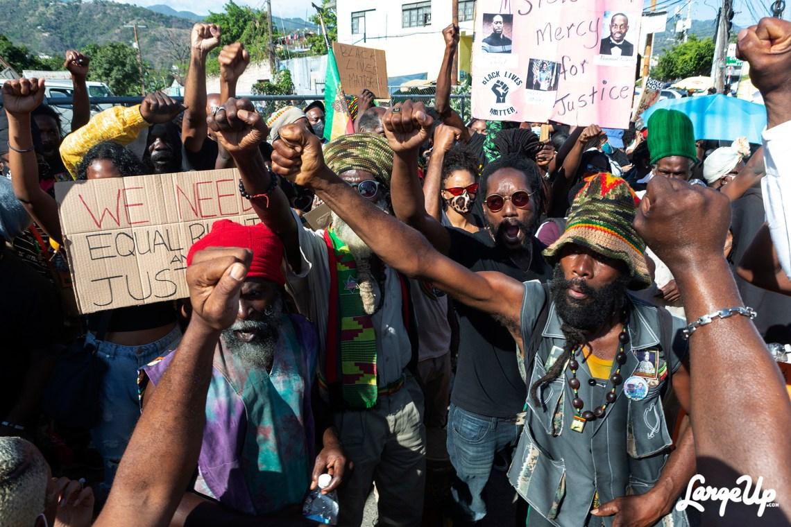 Jamaica George Floyd Protest