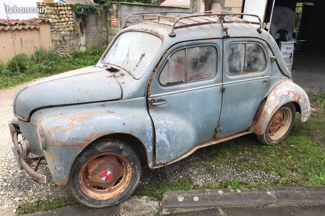 Sorties De Grange Des Pepites Denichees Sur Leboncoin Renault 4cv 1952 L Argus