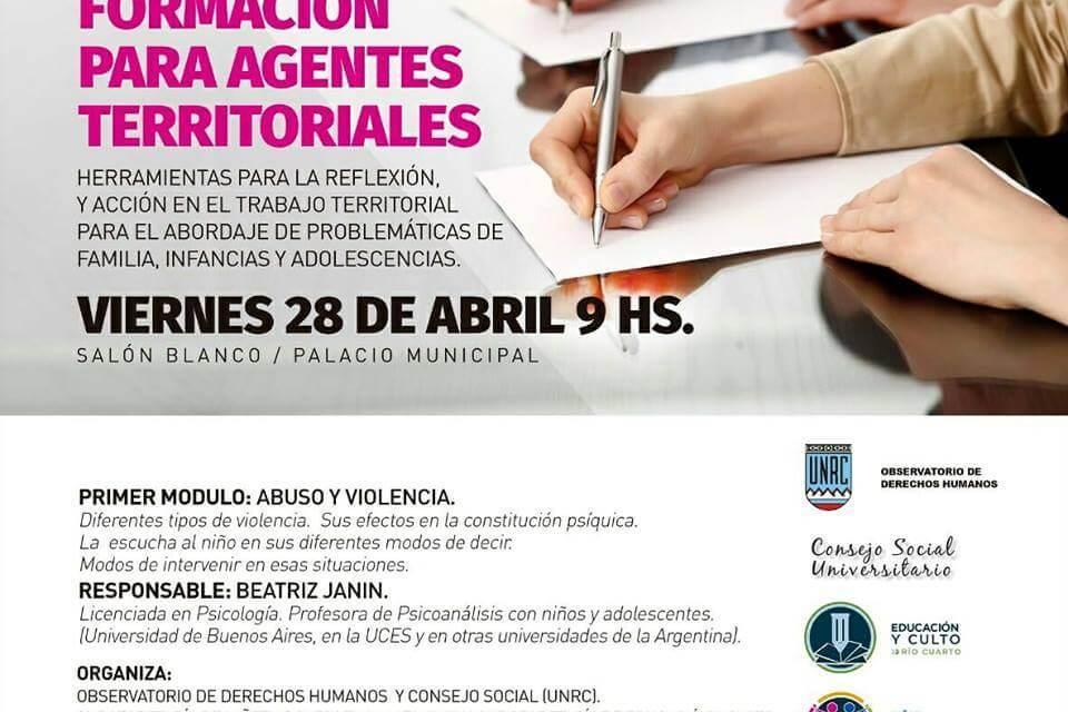 Jornadas de formación para agentes territoriales