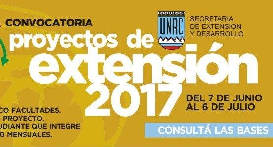 Alto nivel de respuesta a la convocatoria de proyectos de extensión 2017