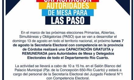 Elecciones PASO: Capacitación para Autoridades de Mesa