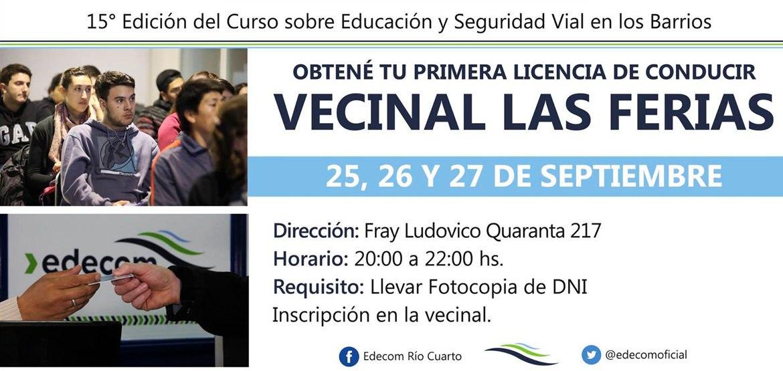 Se dicta el curso obtener la Licencia de Conducir en la Vecinal Las Ferias