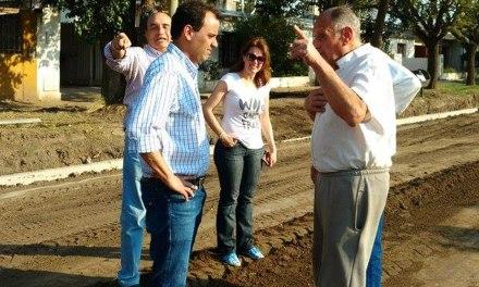 Llamosas recorrió obras de infraestructura vial en Banda Norte