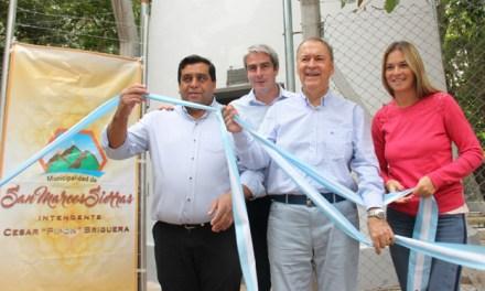 Schiaretti inauguró obras para el agua potable en San Marcos Sierras