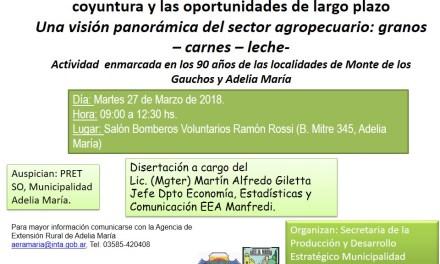 Jornada sobre escenarios económicos en el sector agropecuario