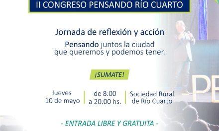 Se realizará el Congreso «Pensando Río Cuarto»