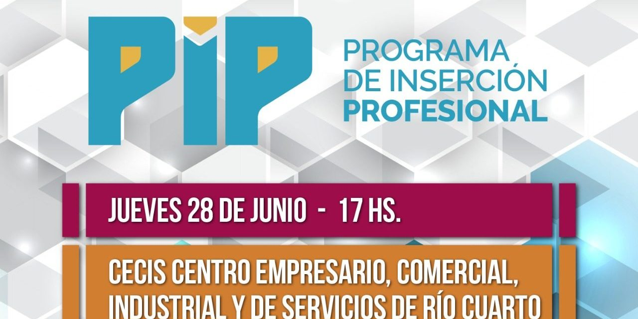 Se presenta el PIP en Río Cuarto